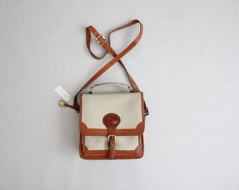 leather crossbody purse | dooney & bourke satchel | vintage top handle bag