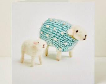 Pearl and Lamb Greeting Card