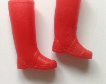 Vinatge Barbie Skipper Doll Rain Boots Red