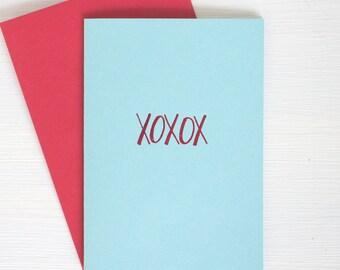 XOXOX folded notecards