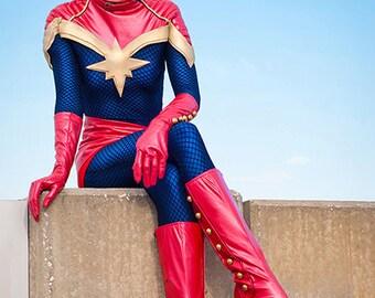 8x10 Captain Marvel Cosplay Print