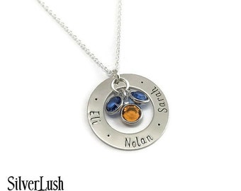 NEW Custom Sterling Silver Jewelry - Personalized Necklace with Three Names