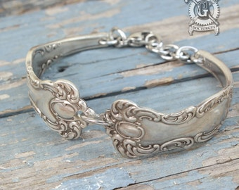 Oxford 1901 Pattern Spoon Bracelet - Adjustable - Handmade by Doctorgus from Antique Victorian Silverware - Boho Upcycled Spoon Jewelry