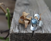 SZ 8 - Reflections Ring - Sterling Silver and Kyanite Ring