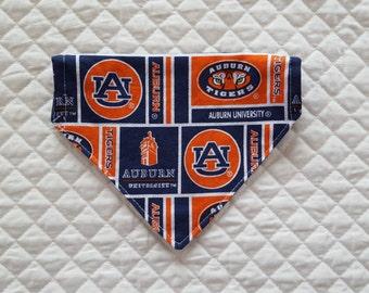 Auburn Dog Bandana, Reversible, Denim Bandana for Dogs, Pet Accessories, Tigers, Pet Supplies, Dogs, Pets, Auburn University, Pet Clothing