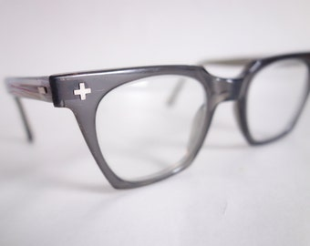 stylish frames for men's glasses wxsv  CLEAR Dark GRAY Vintage Eyeglasses Smaller Size Stylish Frames 50s 60s Eyewear  Glasses Men's Women's Unisex Sunglasses Midcentury C02