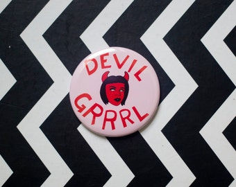 Devil Grrrl Pocket Mirror