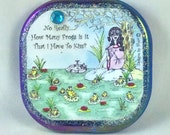 FROGS - Compact mirror, cat, whimsical funny sayings, girlfriend gifts, bridesmaid gifts, humorous illustrations by Sher