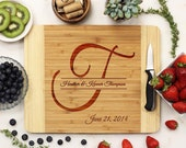 SALE Personalized Cutting Board, Custom Cutting Board, Monogrammed Cutting Board,  Engraved Wood cutting Board Bamboo wood --21030-CUTB-001