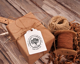 Tree rubber stamp thank you for sharing in our special day wedding favors 3 x 3 --13045-CB27-000