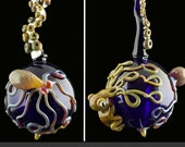 SALE Octopus Squid Tentacle Hand Blown Ornament, Ready to Ship #202