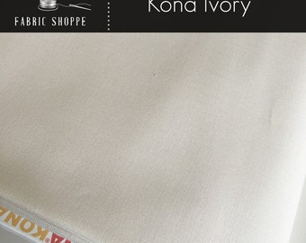 Kona cotton solid quilt fabric, Kona IVORY 1181, Ivory fabric, Solid fabric Yardage, Kaufman, Cotton fabric, Choose the cut