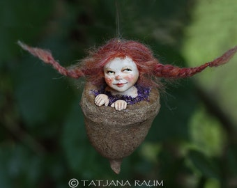 pixie girl Feli, handmade decoration