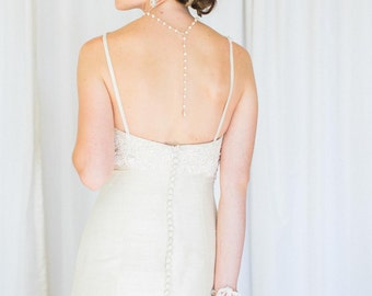 """Back Drop Bridal Necklace 