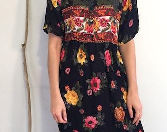 Vintage floral 90's long dress