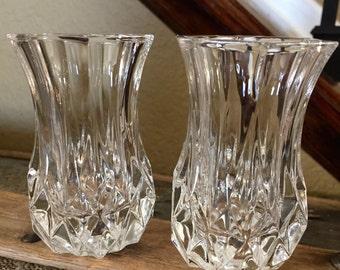 Cristal D Arques Durand Longchamp Crystal Violet Vase Flower Vase Toothpick Holder TYCAALAK