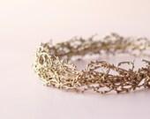 Gold woodland crown, Golden bridal headpiece, Gold or Silver wedding crown, Bridal head piece, Gold bridal wreath - SOLSTICE (thin style)