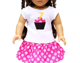 Fits like American Girl Doll Clothes - Customized Birthday Girl Outfit, Made To Order