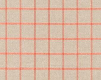 Cloud9 Window Dressing Ecru Plaid Organic Cotton Fabric