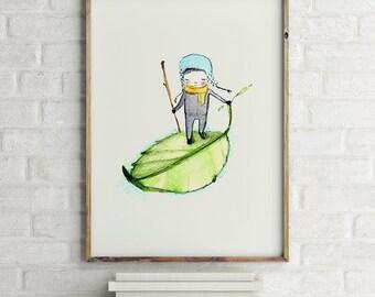 Pedro - Boy Art - Holli - Nursery Wall Art - Nursery Decor - Childrens Art - Kids Wall Art - Nursery Art