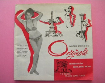 Vintage Lingerie Catalog 1961 Originals Winter Spring Catalogue Boudoir Pin Up Girl