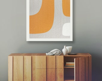 Modern Pet/Baby/Wall Quilt - SALE - Elbow Room Amber
