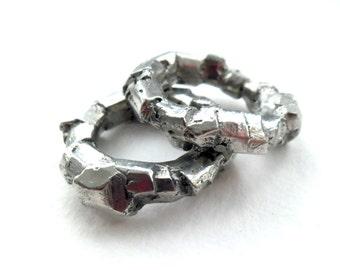 Chunky Tin RockFacet Ring.