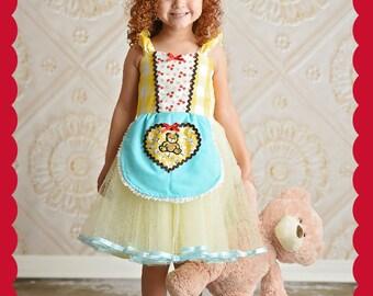 Goldilocks costume, Halloween Costume, Goldilocks and the Three Bears costume, girls yellow dress, fairy tale cape, toddler costume