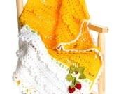 CROCHET PATTERN Strawberry Delight Girls Adult Blanket/Throw & Strawberry Pin Ebook Crochet Pattern in Pdf format