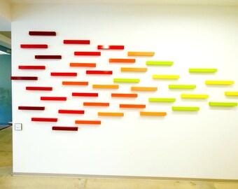 Large Wall Sculpture | Original Art | Abstract Art Installation | Custom Artwork | 3D Wood Wall Art | Rosemary Pierce Modern Art