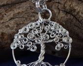 Spiral Wire Tree Of Life in Sterling Silver
