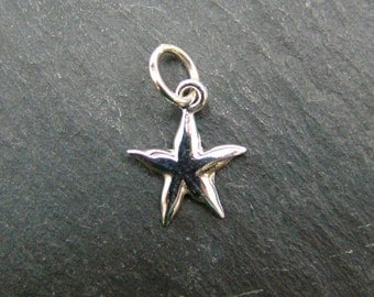 Sterling Silver Starfish Pendant 13mm (CG6162)