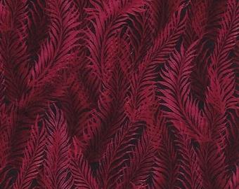 Feather Scarlet Red Dreamweaver Blender Jason Yenter Fabric 1 yard
