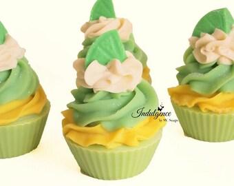 Agave Lime Handmade Artisan Vegan Soap Cupcake/Cold Process/Cake Soap