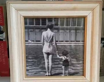 vintage print in frame