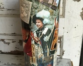 Custom Order for Laura H - Decoupage TP Holder with British and Irish Imagery