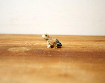 vintage 70s Sweet Little Frog Toad Terrarium Decor Tiny Figurine Woodland Perfect  // Retro Shelf Decor