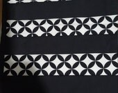 Four black and white modern place mats. Reserved for Judy