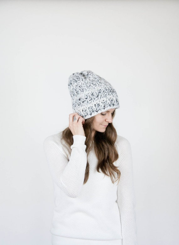 Slouchy Hat Textured Winter Hat / THE HOLOCENE / Fog