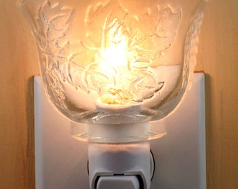 Indiana Glass Company Grape Leaf Pattern  Small Punch Cup Custom Made Night Light