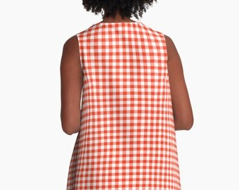 Dress - Gingham Red