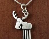 Tiny moose necklace / pendant