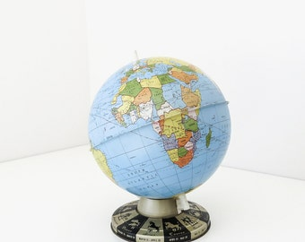 "classic 9"" tin globe with horoscope base"