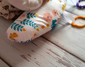 Organic Tummy Time Pillow, Lotus Pond