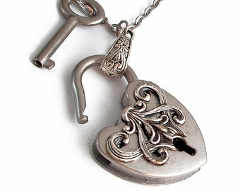 Lock Your Love Away - Victorian Style Padlock Necklace