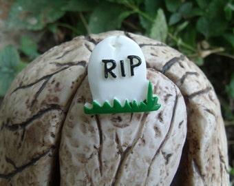 RIP Graveyard Tombstone Halloween Ring