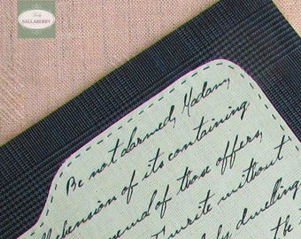 Mr. Darcy Handmade Journal