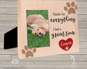 Personalized Pet Memorial Frame - great gift for loss of pet