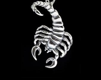 Scorpion Pendant - Scorpio Astrology Jewelry - Scorpion Necklace - Silver Scorpion Necklace - Astrological Zodiac Sign Jewelry