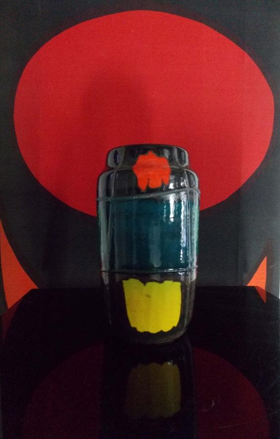 Scheurich mondrian vase vintage 1960s 70s west germany for Mondrian vase
